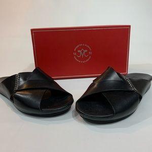 Johnston & Murphy Black Sandals